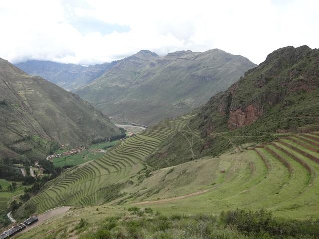Sacred Valley of the Incas, Ollantaytambo, Peru, Blue Sky and Wine