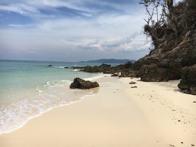 Bamboo Island from Phi Phi, Thailand, Blue Sky and Wine