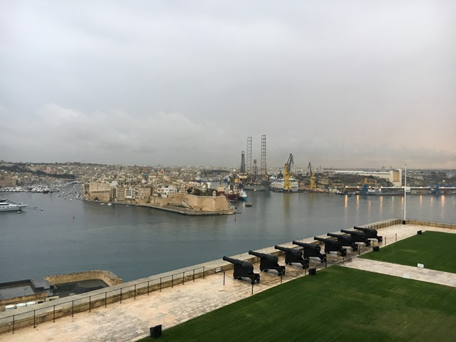Upper Barrakka Gardens, Valletta, Malta, Blue Sky and Wine