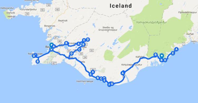 1-week-iceland-road-trip-map