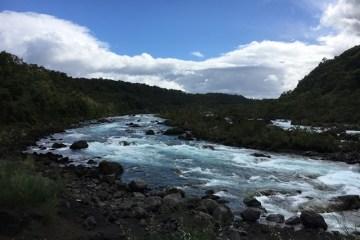 Petrohué waterfall from Puerto Varas, Chile