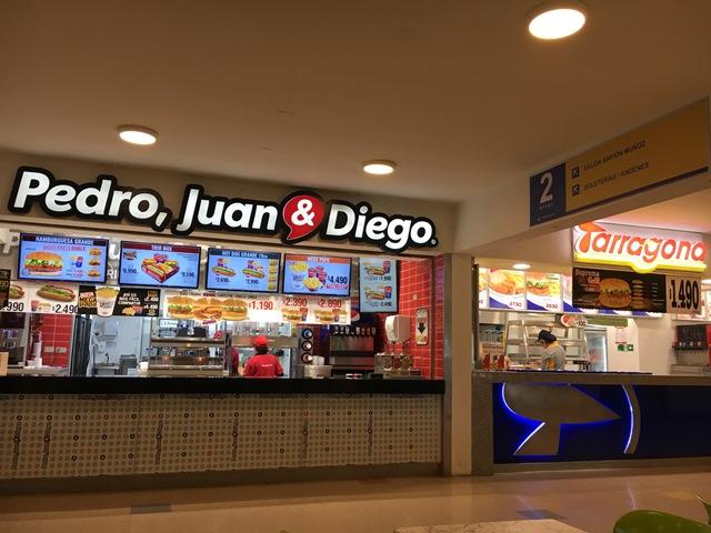 food canteen inside Valdivia bus terminal, Chile