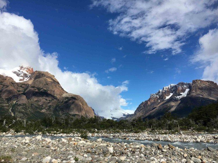 Blue Sky and Wine, Los Glaciers national park, El Chaltén, Argentina