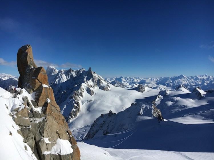 Aiguille du Midi Peak, Chamonix, Blue Sky and Wine Travel Blog