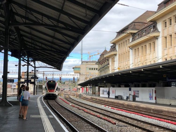 Lausanne Train Station, Lavaux vinyard trip from Geneva, Blue Sky and Wine