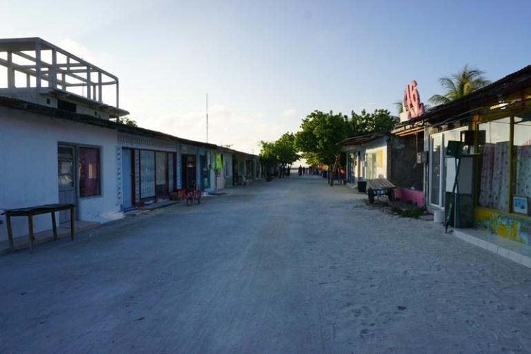 Streets on Huraa island, Maldives, Blue Sky and Wine