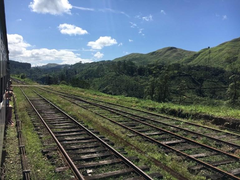 Kandy to Nuwara Eliya train journey, Sri Lanka, Blue Sky and Wine