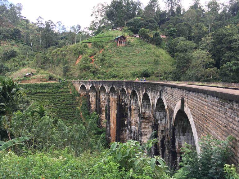Nine Arch Bridge Ella, Sri Lanka, Blue Sky and Wine
