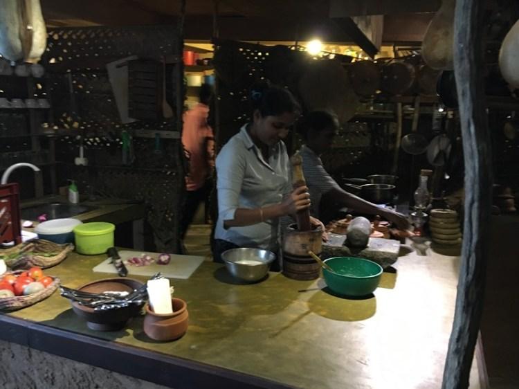 Blue Sky and Wine Travel Blog, Smoky kitchen, Tissa, Sri Lanka