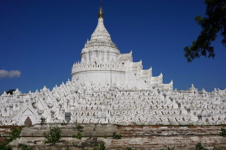 Blue Sky and Wine in Hsinbyume Pagoda, Mingun city, Myanmar