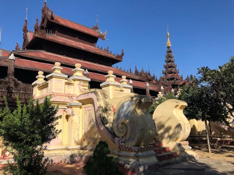Blue Sky and Wine, Shwe Nandaw Monastery, Mandalay, Myanmar