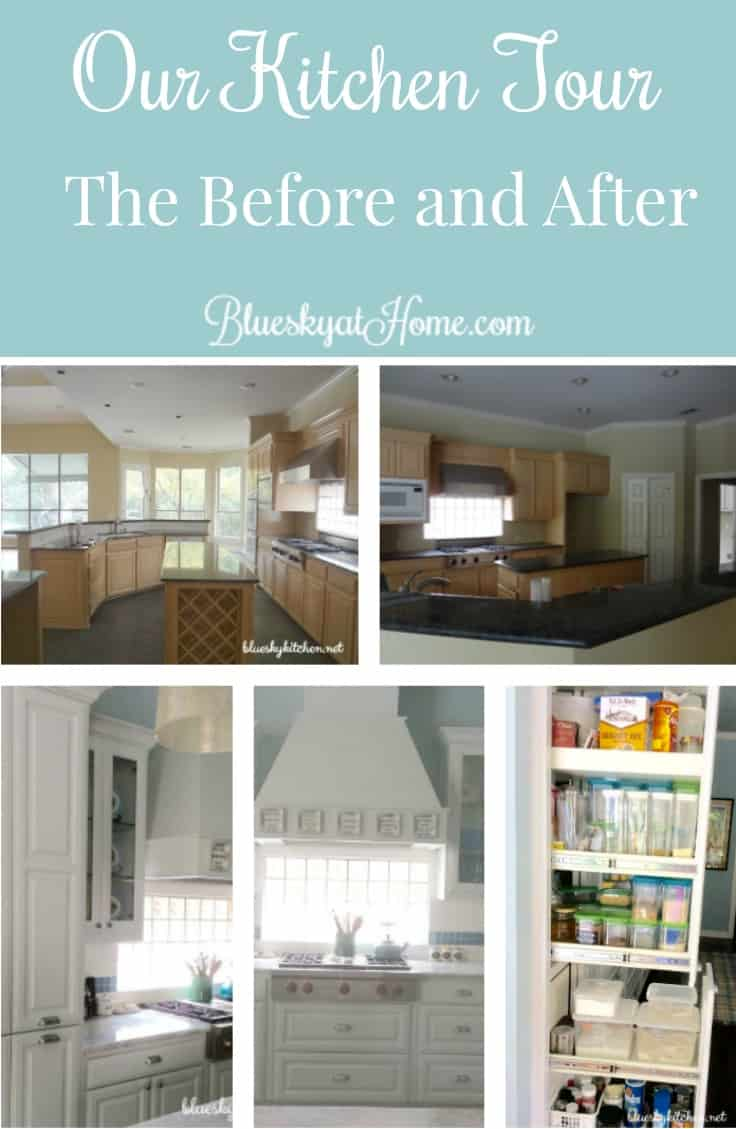 Our Kitchen Tour ~ The Before and After ~ Bluesky at Home