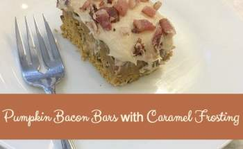 Pumpkin Bacon Bars with Caramel Frosting