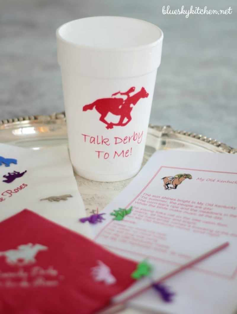 How We Prepare for Our Kentucky Derby Party with traditional Derby decorations, menu and party prep. What you need to throw the best race day party.