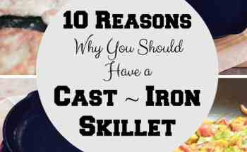 10 Reasons Why You Should Have a Cast~Iron Skillet