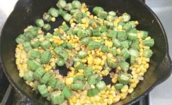 Skillet Sautéed Corn and Okra