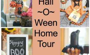Halloween Home Tour with Witches and Scarecrows