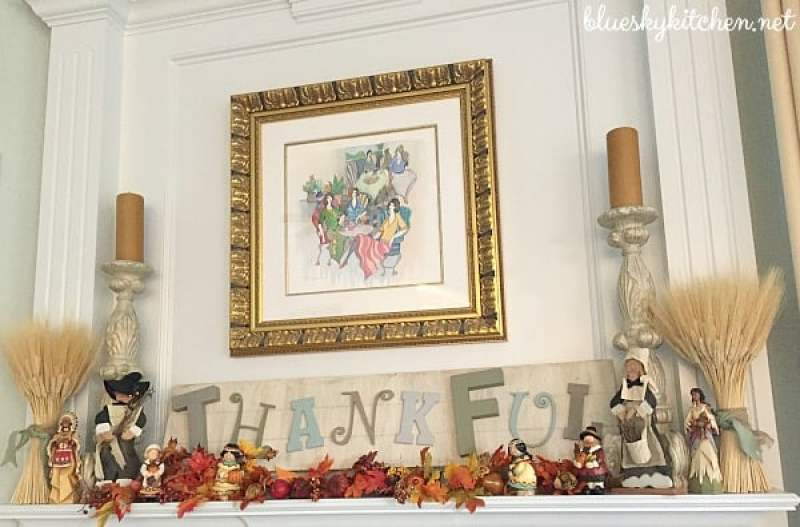 How I Decorated Our House to Enjoy for Thanksgiving. Sharing our Thanksgiving vignettes of turkeys, pilgrims, and pumpkins on a little home tour.