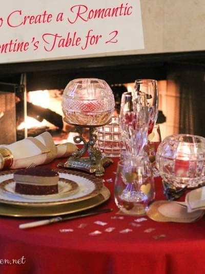 How to Create a Romantic Valentine's Table for Two