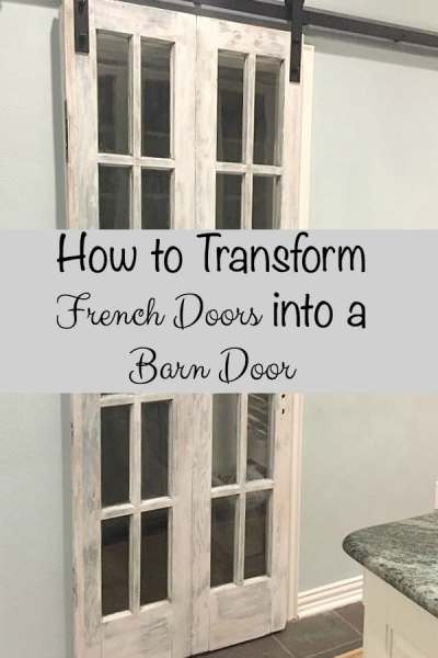 How to Transform French Doors into a Barn Door