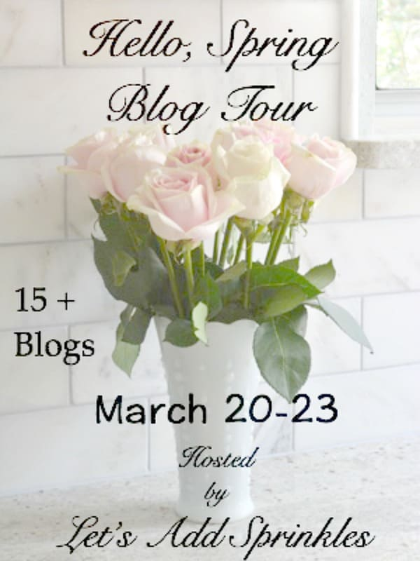 Give Away Announcement, spring home decor 2017 and spring tablescape blog hops to give you great ideas for your seasonal spring home decor.