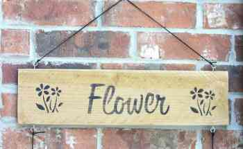 How to Make a Flower Garden Sign for under $10