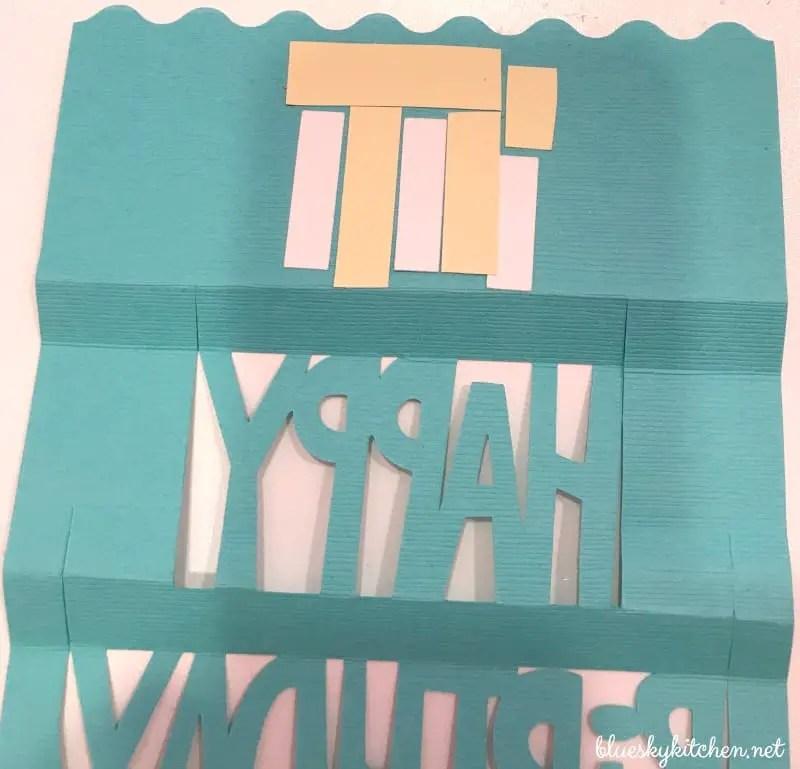 How To Make A Birthday Card With A Cricut Explore Air