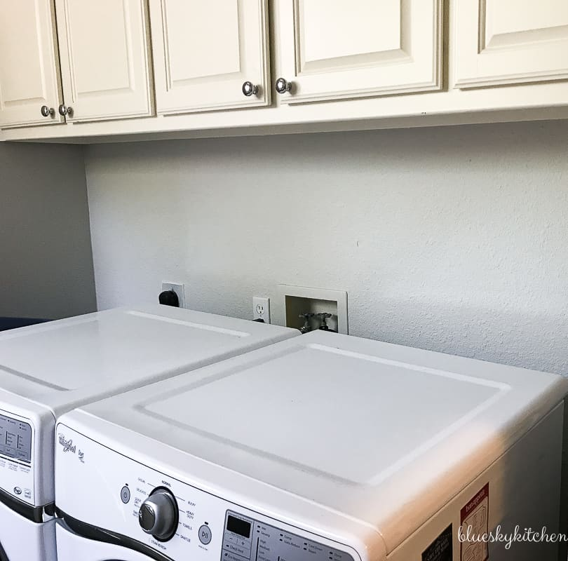 How to Make a Laundry Room Weathered Backsplash. Creating a weathered shiplap look is easy with Palette in a Box and Amy Howard paints.