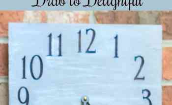How to Take a Flea Market Clock from Drab to Delightful