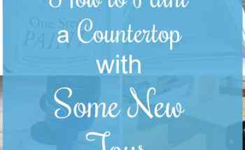 How to Paint a Countertop with Some New Toys