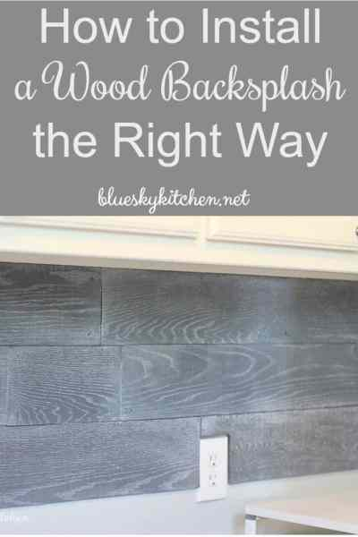 How to Install a Wood Backsplash the Right Way