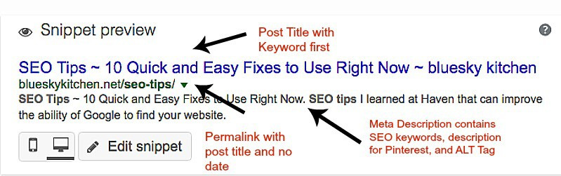 SEO Tips ~ 10 Quick and Easy Fixes