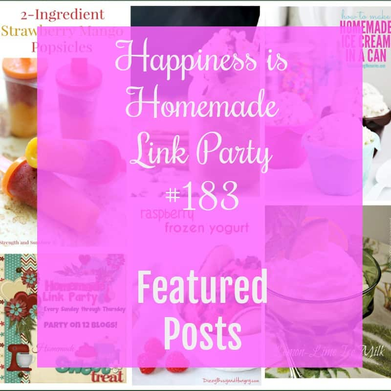 Happiness is Homemade Link Party 183. The place to share your best posts about home decor, blogging, tablescapes, DIY, crafts and recipes.