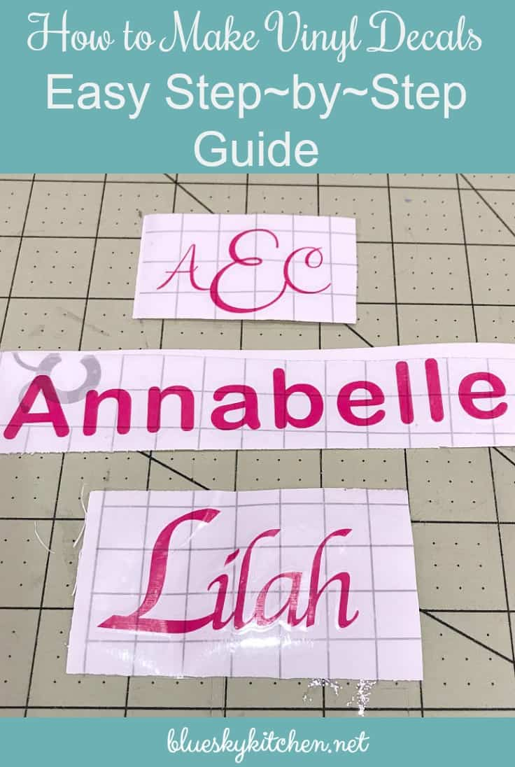 How To Make Vinyl Decals Easy StepbyStep Guide Bluesky At Home - How to make vinyl decals