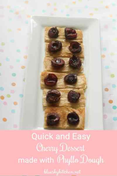 Quick and Easy Cherry Dessert Made with Phyllo Dough