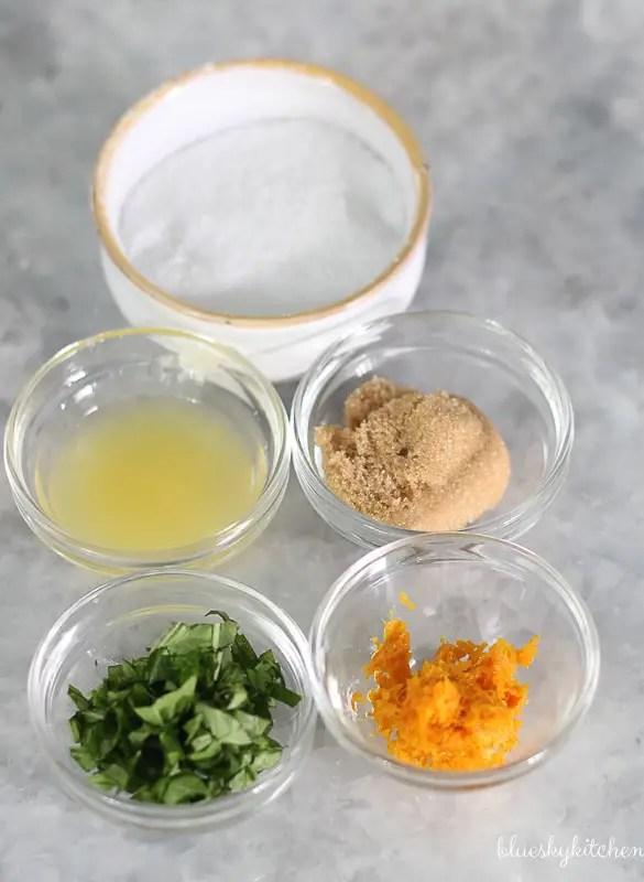 Orange~Basil Cherries Ingredients