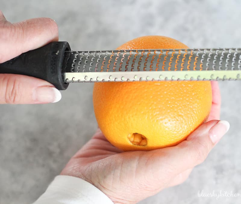 Orange~Basil Cherries with Ricotta, a not too sweet cherry dessert.