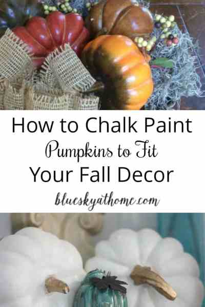 How to Chalk Paint Pumpkins to Fit Your Fall Decor