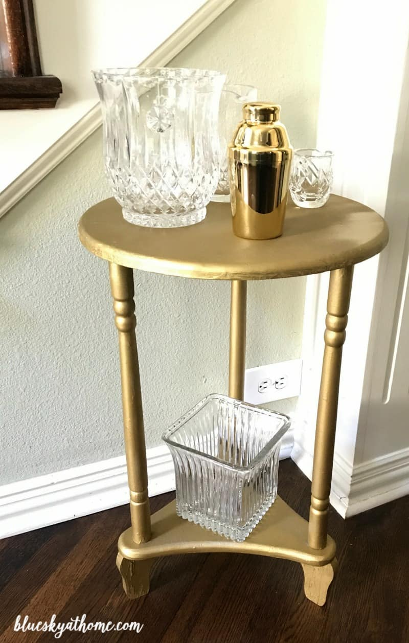 Spray Paint Make Overs ~ Discarded Table And Free Candlesticks. For Under  $10, A