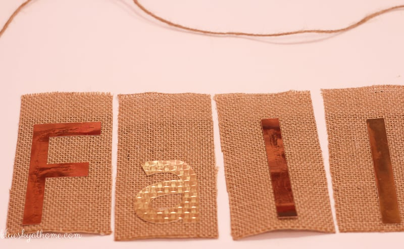 How to Make the Easiest Burlap Banner Inspired by Fall ~ Bluesky at Home