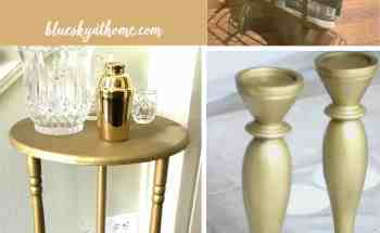 Spray Paint Makeovers ~ Discarded Table and Free Candlesticks