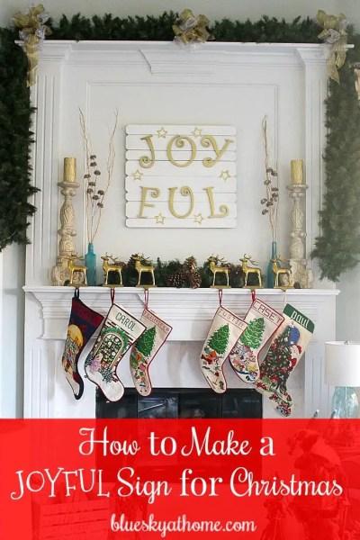 How to Make a JoyFul Sign for Christmas