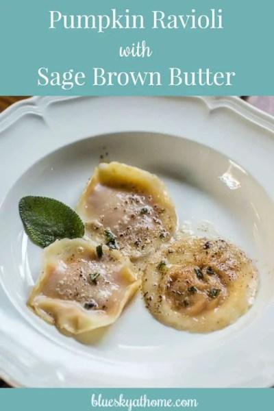 Pumpkin Ravioli with Sage Brown Butter Appetizer
