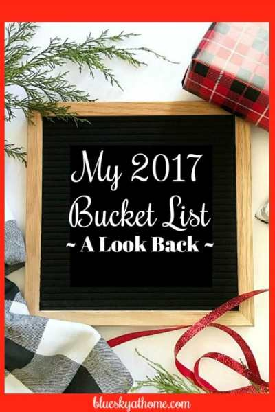 My Personal 2017 Bucket List ~ A Look Back