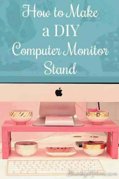 How to Make a DIY Computer Monitor Stand