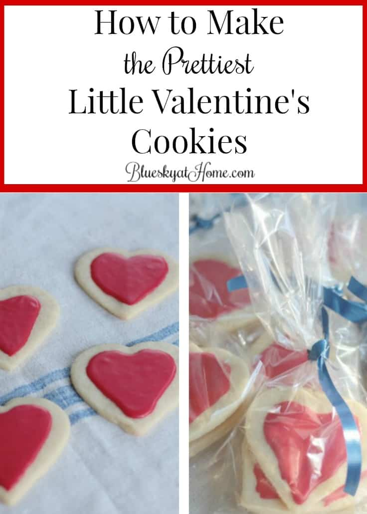 How to Make the Prettiest Little Valentine's Cookies ~ this easy recipe is a slightly sweet cookie with a bit of crispiness. A great choice for decorating for Valentine's Day or any holiday. BlueskyatHome.com