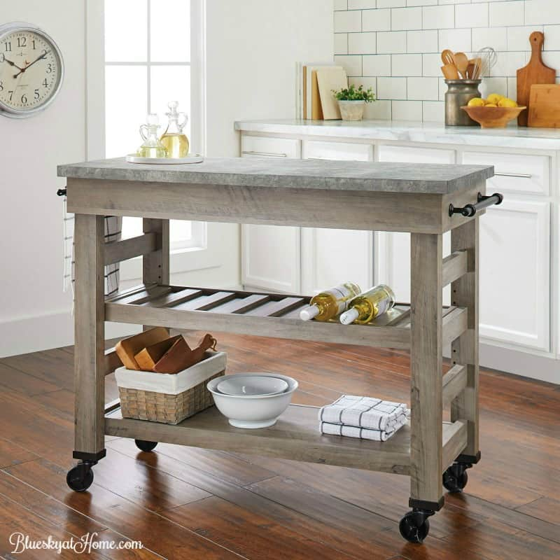 How To Turn A Console Table Into A Kitchen Island
