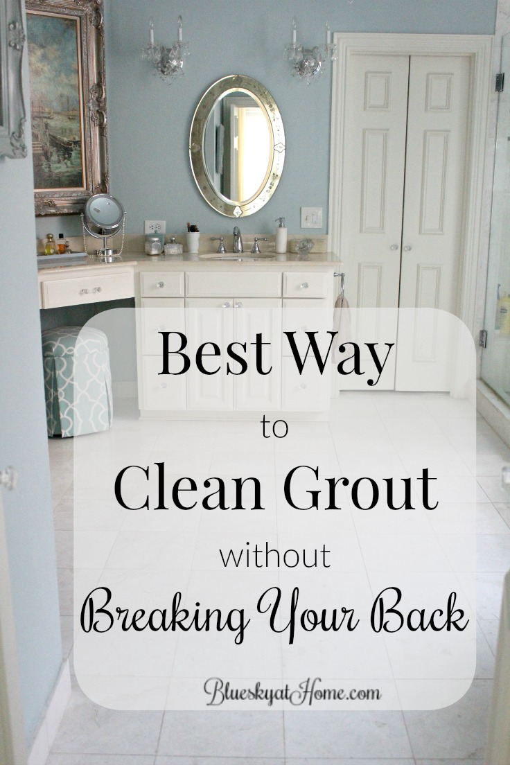 Best way to clean grout without breaking your back bluesky at home best way to clean grout without breaking your back want a clean bathroom floor without dailygadgetfo Image collections