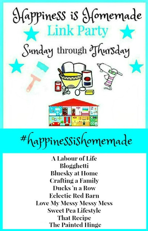 Happiness is Homemade Link Party 226. Share your DIY, recipe, home decor, gardening posts. BlueskyatHome.com #linkparty #happiessishomemade #linkparties