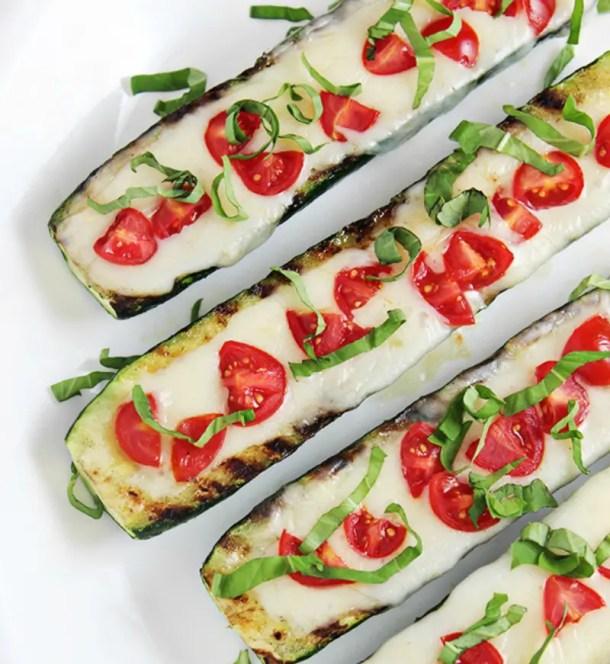 Zucchini caprese appetizers